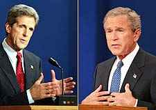 a debate on issues between john kerry and george w bush Get this from a library george w bush and john kerry debate (10/8/2004) [abc news productions, films media group,] -- in this october 8, 2004 abc news debate, presidential candidates.