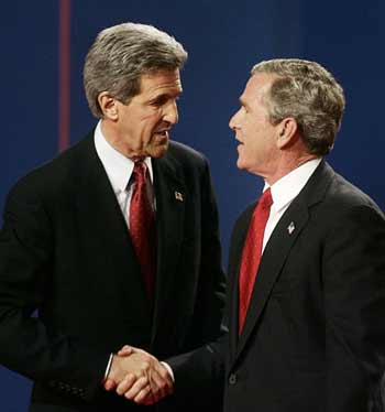 What bush kerry stands on same sex marriage